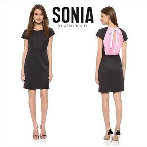 SONIA by Sonia Rykiel Pleated Back Mini Dress